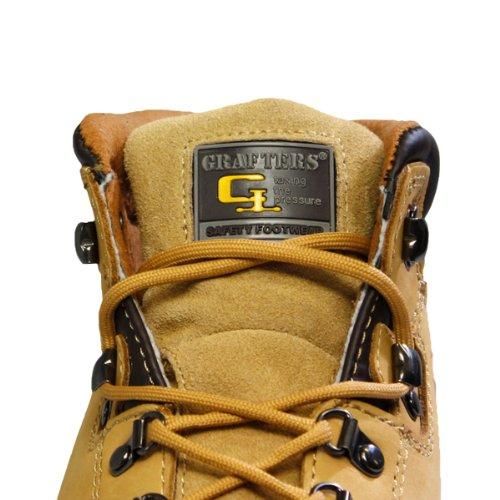 Grafters , Chaussures de sécurité pour homme Marron Miel