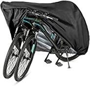 GES Bike Cover for 2 or 3 Bikes, XL Waterproof Outdoor Bicycle Cover Oxford Fabric Storage Rain Sun UV Dust Wi