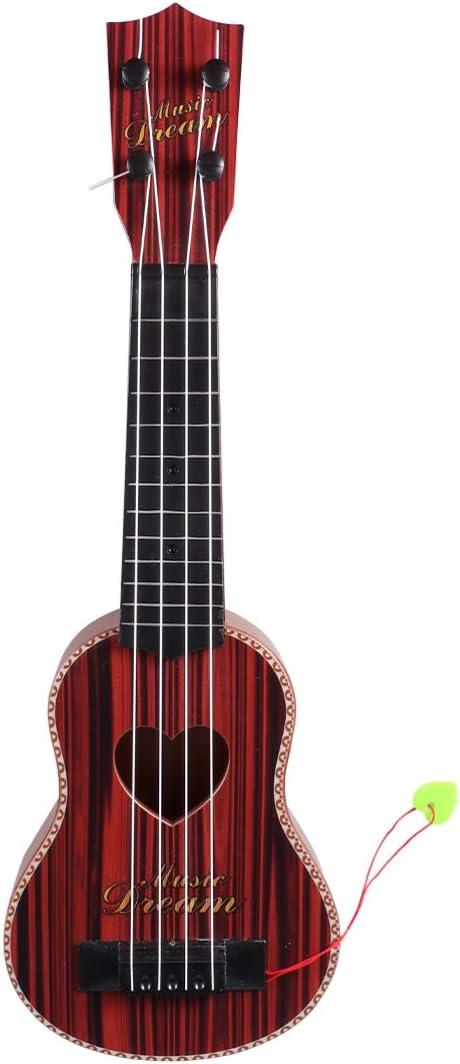Healifty ukelele guitarra hawaii cuatro cuerdas mini guitarra pequeños instrumentos musicales regalos para principiantes niños niños amantes de la música (marrón oscuro)
