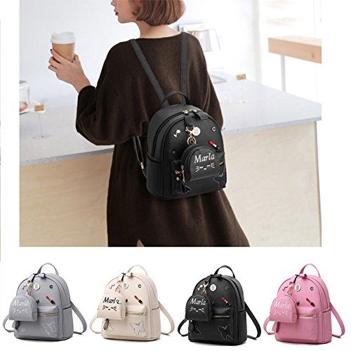 Small PU Leather Backpacks Donalworld Flower Casual Women Girl School Print Bags Col9 Col10 0wv4YZqw