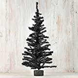Factory Direct Craft 2 Foot Black Artificial Pine Tree for Christmas, Halloween and Year Round Decor