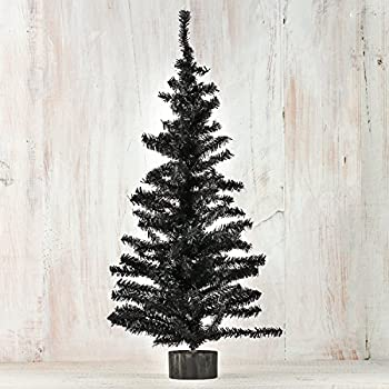 factory direct craft 2 foot black artificial pine tree for christmas halloween and year round - Year Round Christmas Tree