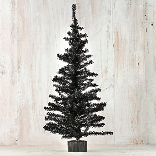 Factory Direct Craft 2 Foot Black Artificial Pine Tree for Christmas, Halloween and Year Round Decor - Halloween Christmas Trees