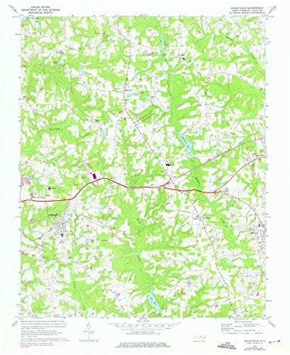 YellowMaps Knightdale NC topo map, 1:24000 Scale, 7.5 X 7.5 Minute, Historical, 1967, Updated 1975, 26.9 x 22 in - ()