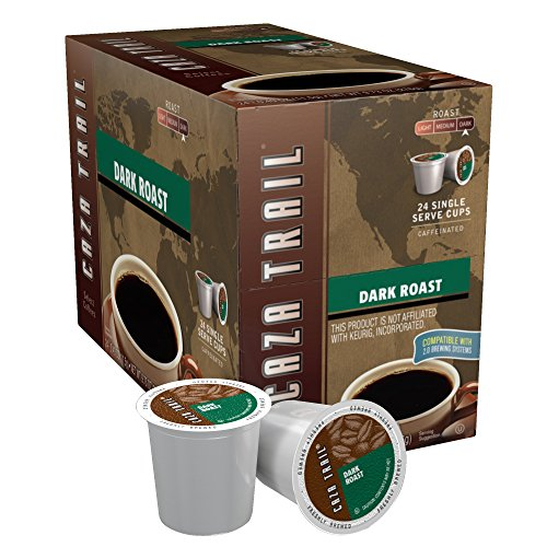 Caza Trail Coffee, Dark Roast, 24 Single Serve Cups