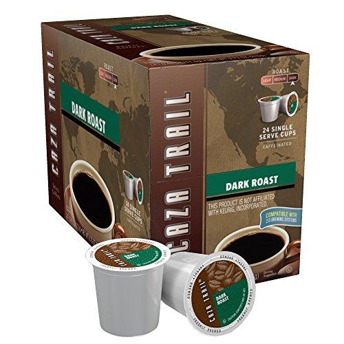 Caza Trail Coffee, Dark Roast, 24 Single Serve Cups by Caza Trail