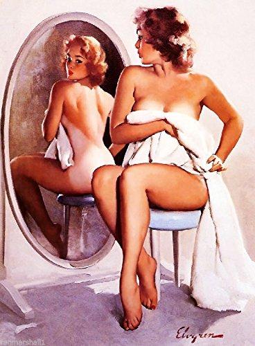[1940S PIN-UP GIRL SUNBURN PICTURE POSTER PRINT ART PIN UP. Poster measures 10 x 13.5 inches] (1940s Pin Up Girl)