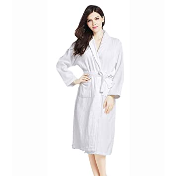 Unisex Luxury 100% Cotton Toweling Bata De Baño Bata Wrap Ropa De Dormir,L: Amazon.es: Hogar