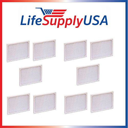 LifeSupplyUSA 10 Pack Replacement Filter to fit Hunter 30920 30905 30050 30055 30065 37065 30075 30080 30177