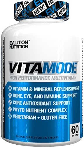 Evlution Nutrition Mens Multivitamin, VitaMode, High Performance Daily Vitamin Support (60 Servings)
