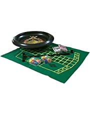 16 - 40cm Roulette Set Home Casino Experience Rack Black Jack Felt Playing Cards 120 Plastic Chips by PSE