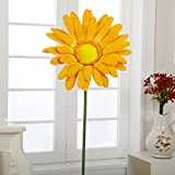 Flora Bunda A-027 15'' Paper Big Daisy with Stem(Yellow , 12pcs)