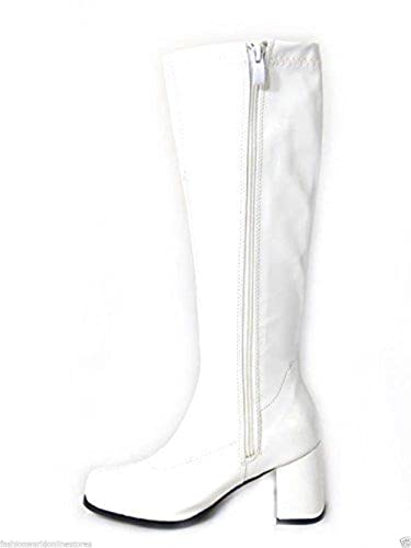 New Womens Ladies Fancy Dress Party GO GO Boots -60s & 70s Party Sizes UK3 UK12