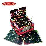 Melissa & Doug Scratch Art Rainbow Mini Notes (125 ct) with Wooden Stylus