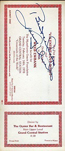 Johnny Unitas Signed Autograph JSA Certified Certed Vintage Ticket Certified Autograph