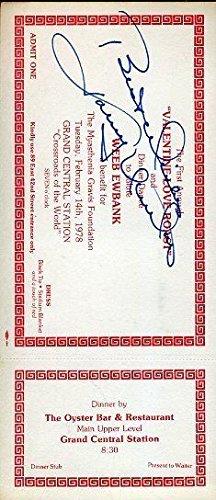 Johnny Unitas Signed Autograph JSA Certified Certed Vintage Ticket Certified Autograph