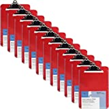 Sparco Plastic Clipboard - Spring Clip - Red SPR01864BX