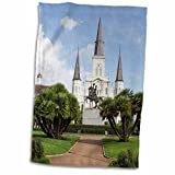 3dRose Danita Delimont - Cathedrals - St Louis Cathedral, New Orleans, Louisiana, USA - US19 JWI0038 - Jamie and Judy Wild - 15x22 Hand Towel (twl_144485_1)