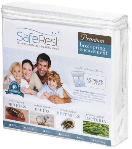 King Size Certified Bedbug Proof Waterproof Box Spring Encasement (2 Piece Set)