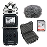 Zoom H5 Handy Recorder Kit with Custom Windbuster + 16GB SDHC Memory Card Ultra + SKB - iSeries Injection Molded Case