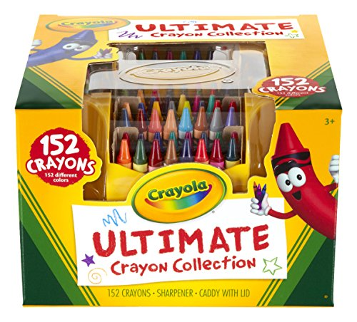 Crayola Ultimate Crayon Collection; 152 Colors, Durable CaddyCase,Sharpener, Coloring Gifts for Adults...