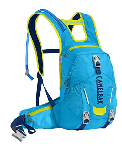 CamelBak Skyline 10 LR Crux Lumbar Reservoir Hydration Pack, Atomic Blue/Sulfur Springs, 3 L/100 oz
