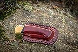 Double stitched horizontal sheath for Buck 112 Ranger, Buck custom leather sheath, pocket knife leather case, EDC knife