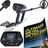 NHI Classic Metal Detector With Pinpointer – All Terrain Waterproof Search Coil Detects All Metal – Digging Tool & Beginners Guide Book Included – Lightweight Metal Detectors for Adults & Kids For Sale