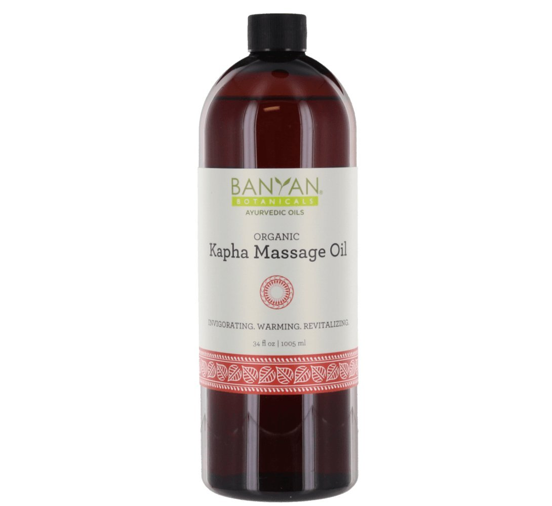 Banyan Botanicals Kapha Massage Oil - Certified Organic, 34 oz - Invigorating, warming, revitalizing - Stimulates the body and sharpens the mind* by Banyan Botanicals
