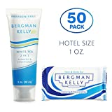 BERGMAN KELLY Soap Bars, 2in1 Shampoo and Conditioner 2-Piece Travel Amenities Hotel Toiletries In Bulk Guest Size Bottles and Bars (Hotel Size 1 Oz, 50 Pack)
