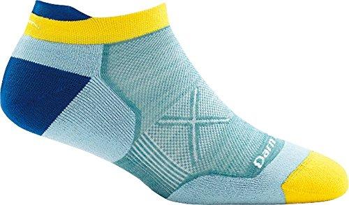 (Darn Tough Vertex No Show Tab Ultra-Light Cushion Sock - Women's Light Blue Medium)