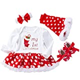 Baby 4pcs Christmas Outfit Infant Girls Xmas
