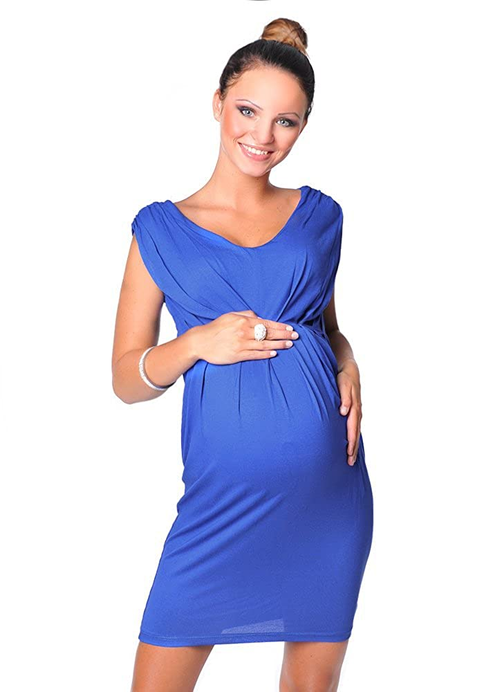 adb9b400570cf4 Product description. Create a super flattering silhouette with this simple  yet elegant sleeveless maternity dress. Delicate v-neckline ...