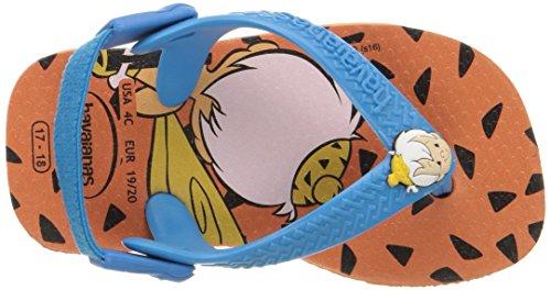 Pictures of Havaianas Kids Flip Flop Sandals, Baby Flintstones, Bamm-Bamm Rubble, (Toddler/Little Kid), Neon Orange, Neon Orange,22 BR (8 M US Toddler) 2