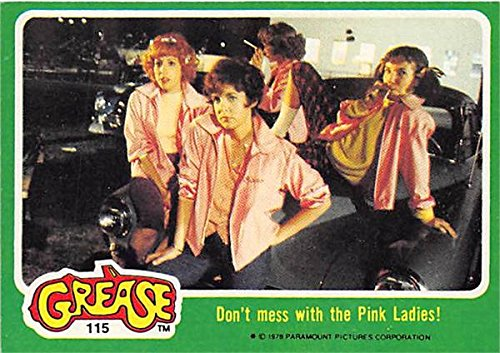 Pink Ladies trading card Grease 1978 Topps #115 Rydell High School Rizzo Frenchy Marty Jan ()