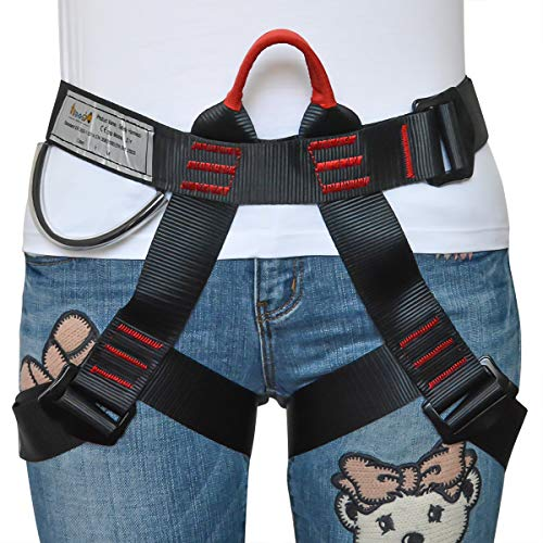 HeeJo Climbing Harness, Protect Waist Safety Harness/Belt, Half Body Harness for Rock Climbing Tree Climbing SRT Fire Rescue Outward Bound Rappelling Mountaineering - Fire Service Harness