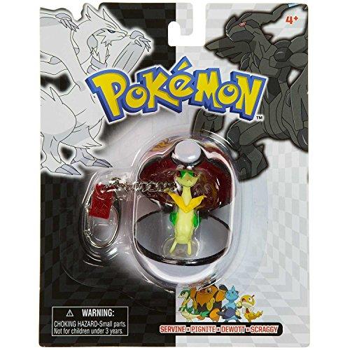 Pokemon Black and White Series Poke Ball Servine Mini-Figure Keychain Series #25