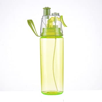 600ML Water Bottle With Straw Drink Spray Cup Climbing Hiking Outdoor Sports