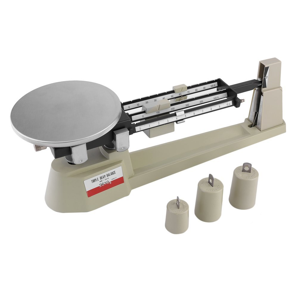 Best Specialty Mechanical Triple Beam Balance Lab Business Home Triple Beam Mechanical Balance Scale with Stainless Steel Plate- 610g Capacity- 0.1g Readability Graspwind