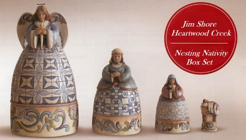 Jim Shore Nesting Nativity Box Set of 4 4024367 - NEW!