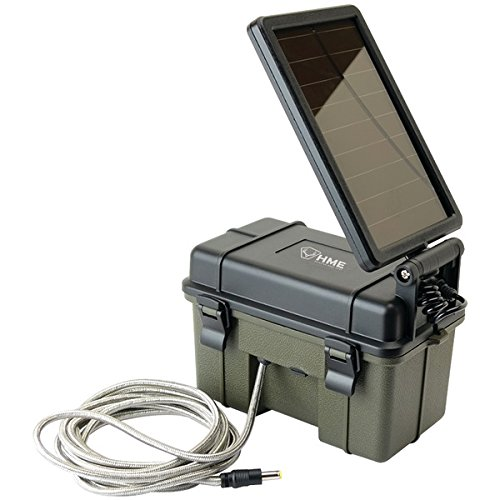 12-Volt Battery Box with 2-Watt Solar Panel by HME(TM)