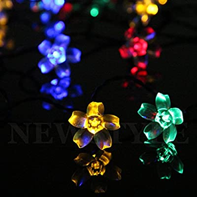 Color Our Life Solar Powered 50 LED Indoor & Outdoor LED String Fairy Light For Gardens,Homes, Christmas Trees, Weddings, Parties (Multi Color)