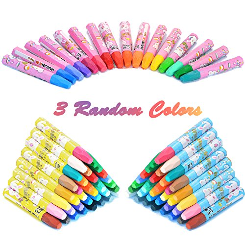 7TECH Oil Painting Sticks Crayon Pastels Set Drawing Pen 36 Pieces Non Toxic, Smooth Blending Texture, Ideal for All Artist Levels Color May Random