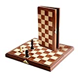 : WE Games Folding Wood Chess Set - MAGNETIC - 11 inches