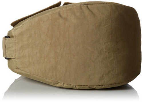 AmeriBag Small Distressed Nylon Healthy Back Bag,Taupe,one size