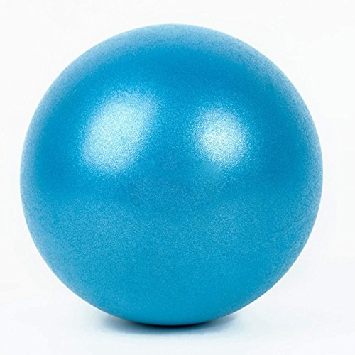 Exercise Ball for Yoga Balance Pump Train Sports Ball 10'' (Blue)