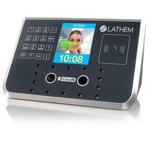 Lathem FR700 Face Recognition Time Clock, For Use with a PayClock Online Subscription Only, Two Infrared Cameras, 3D Facial Analisys, Networked or Stand Alone, Touch Sensitive Keypad (Best Face Recognition Time Clock)