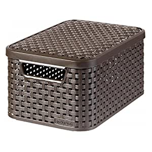 curver style 205839 storage box rattan look. Black Bedroom Furniture Sets. Home Design Ideas