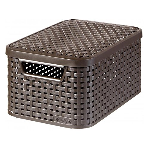 Curver Style 205839 Storage Box Rattan Look Size S with Second-Generation Lid Polypropylene (Style Rattan)