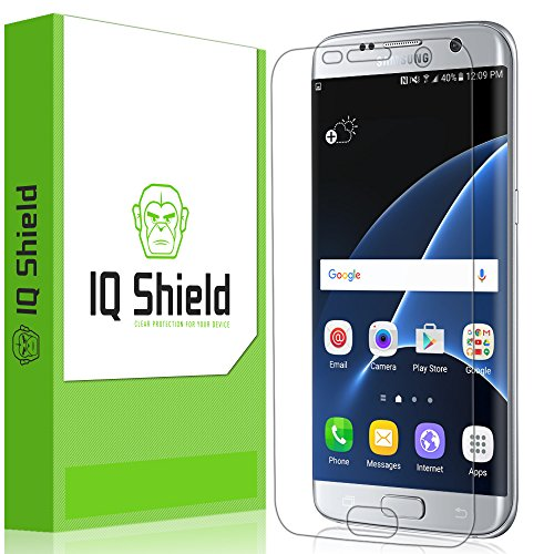 Reusable Clear Screen - IQ Shield LiQuidSkin Clear Screen Protector for Samsung Galaxy S7 Edge Bubble Free Film [Full Coverage]